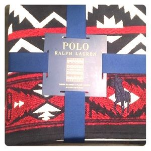 Ralph Lauren Polo throw Blanket